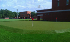 LRU putting green after