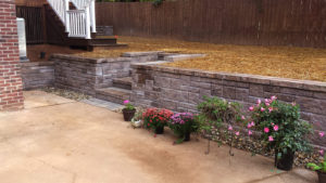 Meares retaining wall