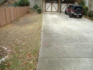 Wyatt driveway before